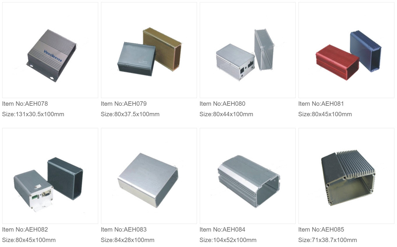 Aluminium Ekstruderede Kasser 10
